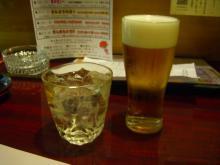 20:14 私~芋焼酎・紅椿 480円 、夫~ビール 490円