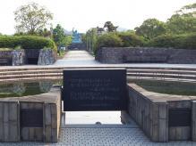 7:00 平和の泉から見た 平和祈念像