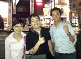 20130909眞邊先生と3人で銀座王朝