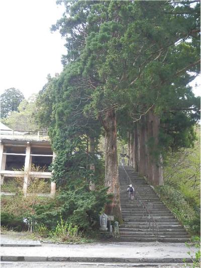 大山寺本堂へ