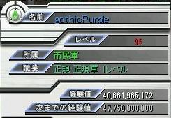連戦♂キャラ(レベル96)