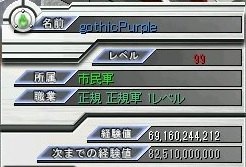 連戦♂キャラ(レベル99)