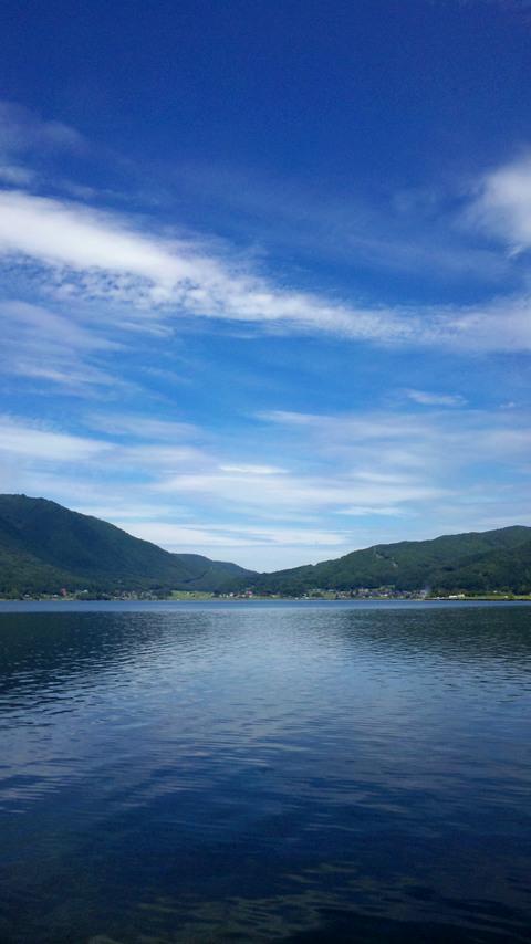 初秋の木崎湖FWVGA(縦)
