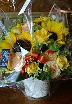 娘から届いた父の日のお花