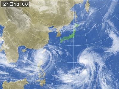 2013,9,21台風衛星画像