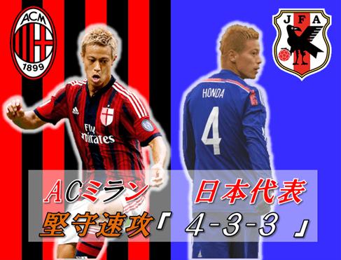 ACミラン_日本代表_4-3-3