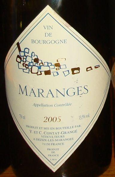 Maranges Y et C Contat Grange 2005
