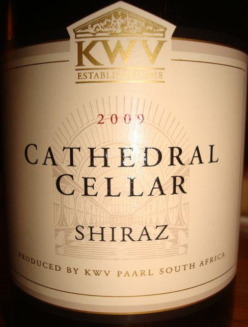 Cathedral Cellar Shiraz KWV 2009