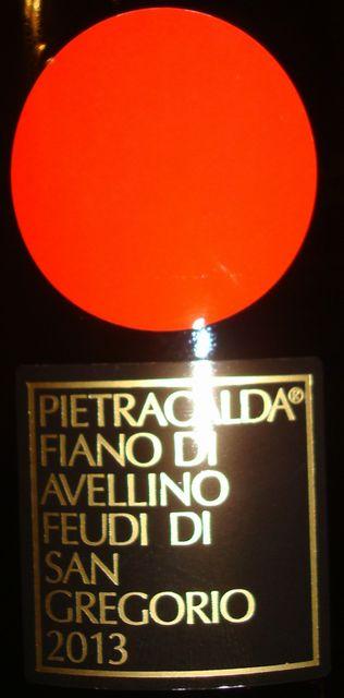 Pietracalda Fiano di Avellino Feudi di San Gregorio 2013