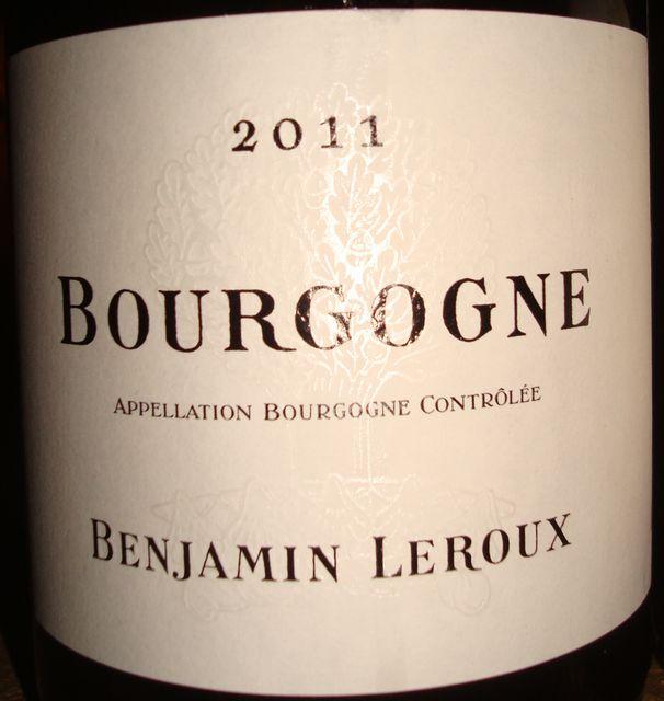 Bourgogne Blanc Benjamin Leroux 2011