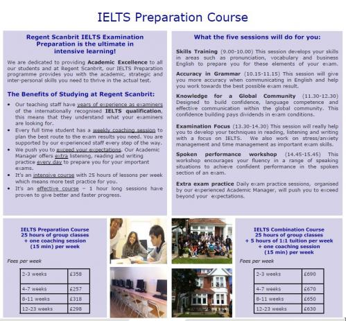 regent scanbrit ielts