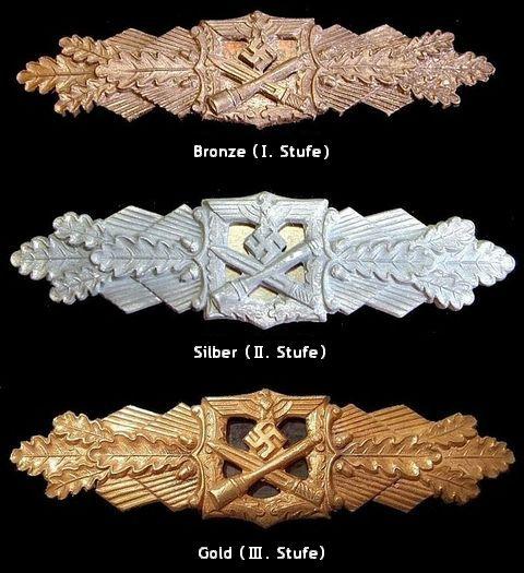 Nahkampfspange_Bronze_Silber_Gold