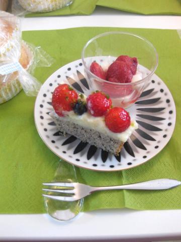 ケーキと干しイチゴ46