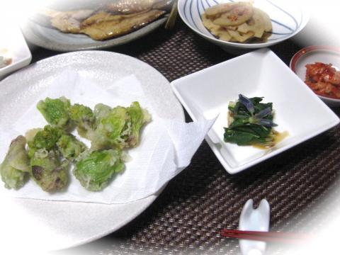 フキノトウ天ぷらと片栗417