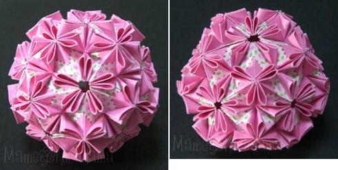 ハート 折り紙:折り紙花くす玉作り方-divulgando.net