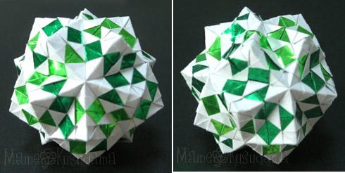 ハート 折り紙 折り紙24面体作り方 : xkusudamax.blog.fc2.com