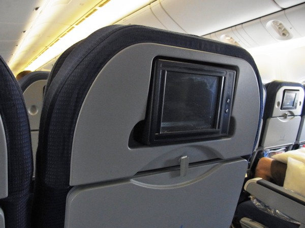 KLM座席モニター