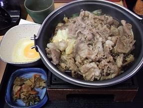 吉野家牛すき鍋2014.10