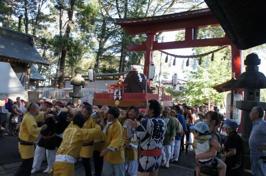 小室浅間神社 宵祭り 外観