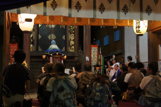 小室浅間神社 宵祭り 神事