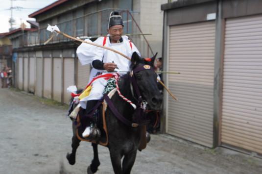 小室浅間神社 流鏑馬祭り やぶさめ朝馬