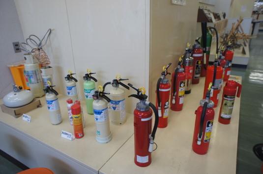 防災安全センター 展示 消化器