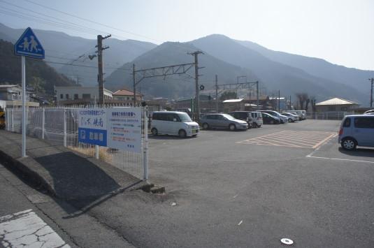 桜の花見 内船駅 駐車場