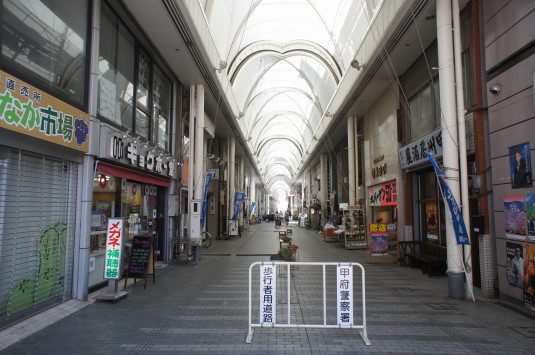 キティ神社その後 商店街