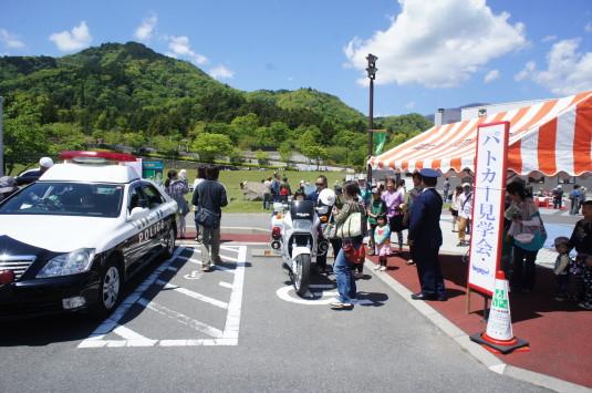 わんぱく祭り パトカー見学会