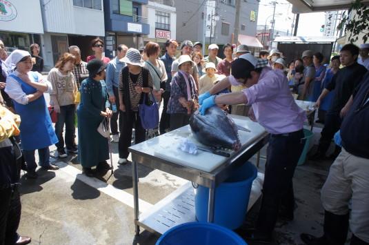 正ノ木祭り マグロの解体ショー