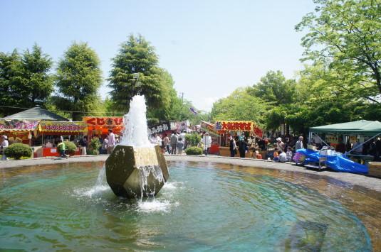 正ノ木祭り 噴水
