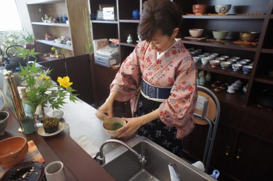 お茶喫茶店 fu-cha 点てたもらう