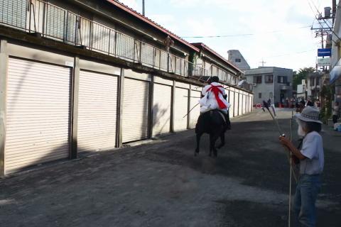 小室浅間神社 流鏑馬祭り 乗り払い