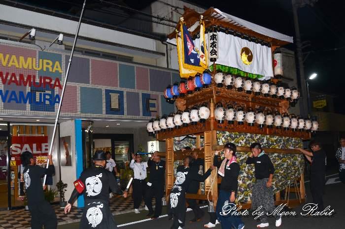 本友会だんじり(本友会屋台) 東予祭り前夜祭 愛媛県西条市 新地通り商店街