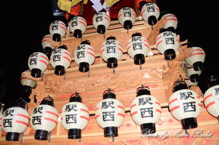 祭り提灯 駅西屋台(だんじり) 西条祭り 伊曽乃神社祭礼 愛媛県西条市