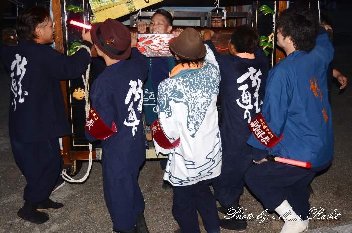 新玉通り屋台(だんじり) 祭り装束 西条祭り 伊曽乃神社祭礼