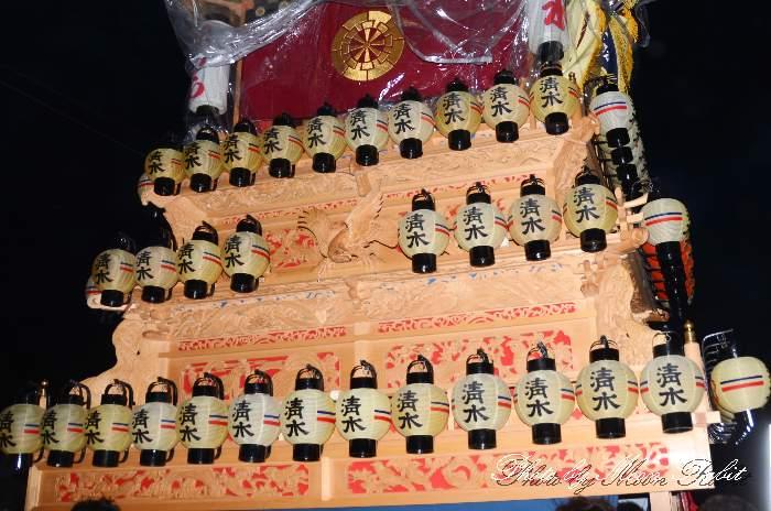 祭り提灯 清水町屋台(だんじり) 西条祭り 伊曽乃神社祭礼 愛媛県西条市