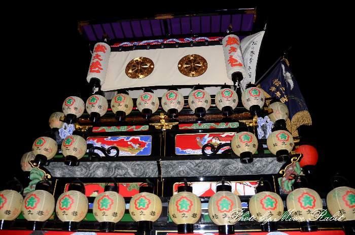 西条祭り 松之巷屋台(松之巷だんじり) 祭り提灯