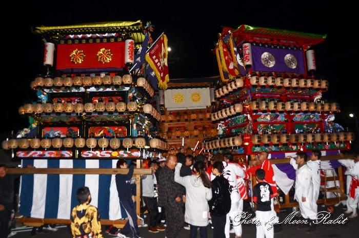 西条地区前夜祭 新地屋台(新地だんじり) フジグラン西条 西条祭り2014 愛媛県西条市