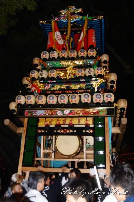 天皇だんじり(天皇屋台) 伊曽乃神社祭礼 宮出し 西条祭り2014 愛媛県西条市