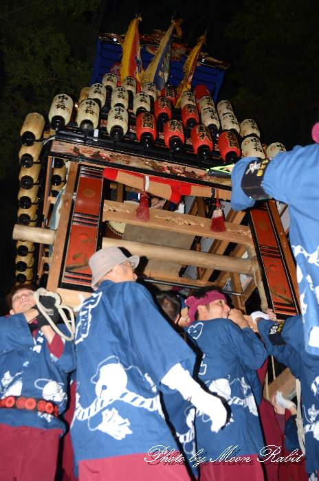 宮出し 中之段屋台(中の段だんじり) 伊曽乃神社祭礼 西条祭り2014 愛媛県西条市