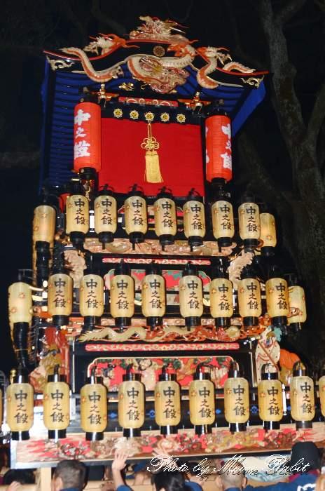 棗提灯 中之段屋台(中の段だんじり) 祭り提灯 西条祭り 伊曽乃神社祭礼 愛媛県西条市