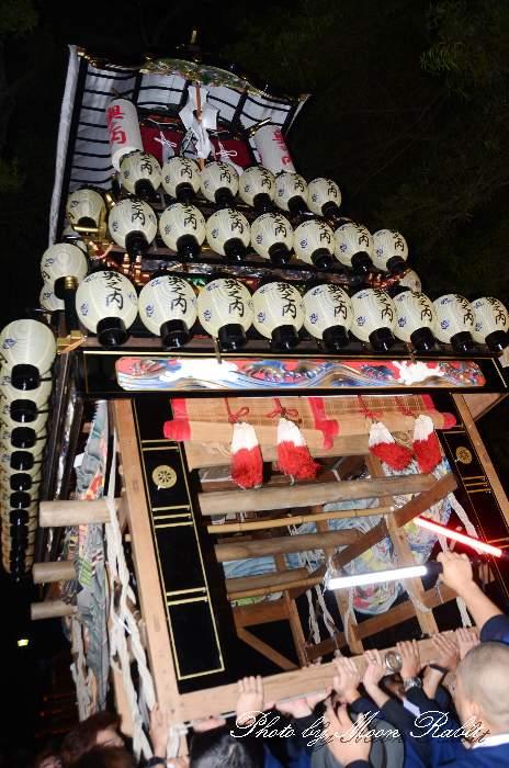 伊曽乃神社祭礼 宮出し 奥之内屋台(奥の内だんじり) 西条祭り2014 愛媛県西条市
