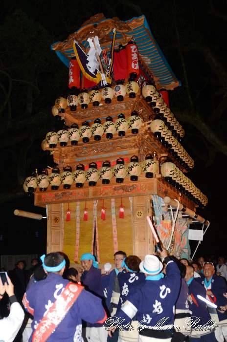 宮出し 日明屋台(日明だんじり) 伊曽乃神社祭礼 西条祭り2014 愛媛県西条市