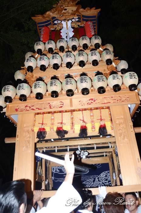 薮乃内だんじり(薮之内屋台) 宮出し 伊曽乃神社祭礼 西条祭り2014 愛媛県西条市