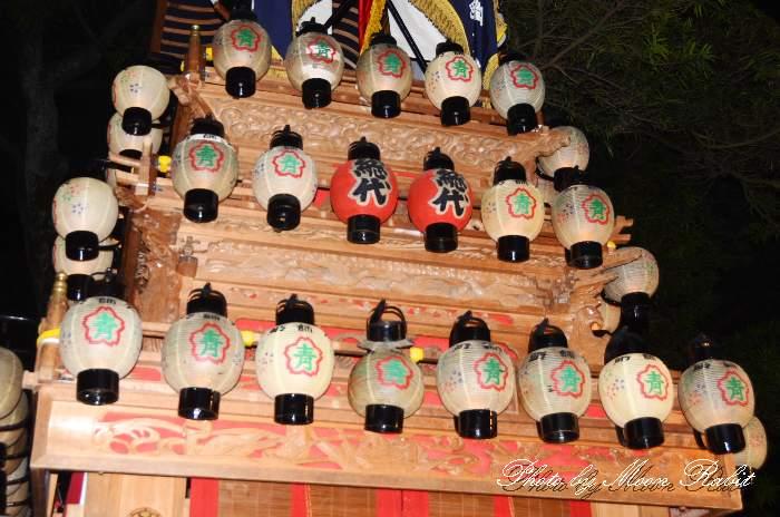 祭り提灯 大師町屋台(大師町だんじり) 伊曽乃神社祭礼 愛媛県西条市