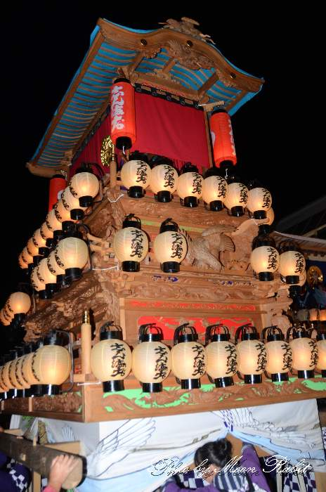 新町屋台(新町だんじり) 祭り提灯 西条祭り 伊曽乃神社祭礼 愛媛県西条市