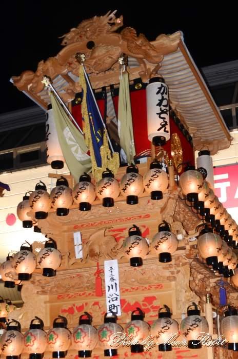 川沿町屋台(川沿町だんじり)  祭り提灯 西条祭り 伊曽乃神社祭礼 愛媛県西条市