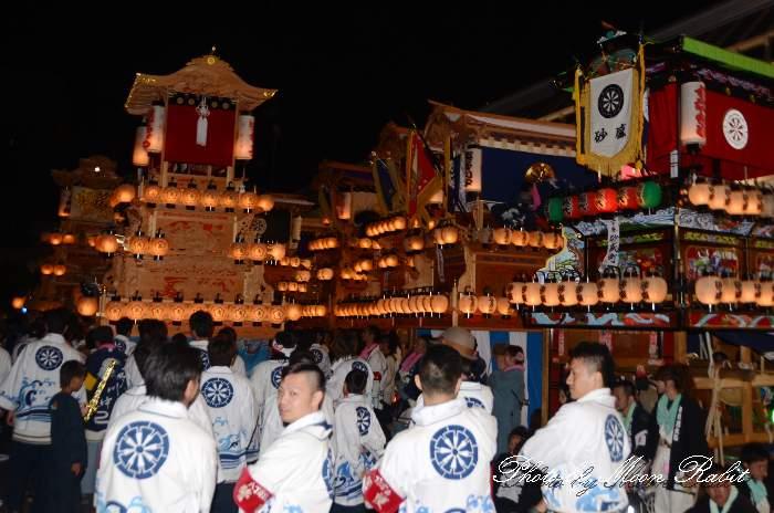 マックスバリュ西条神拝店 八丁屋台(八丁だんじり) 後夜祭 西条祭り2014 愛媛県西条市