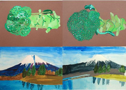 ブロッコリーと富士山